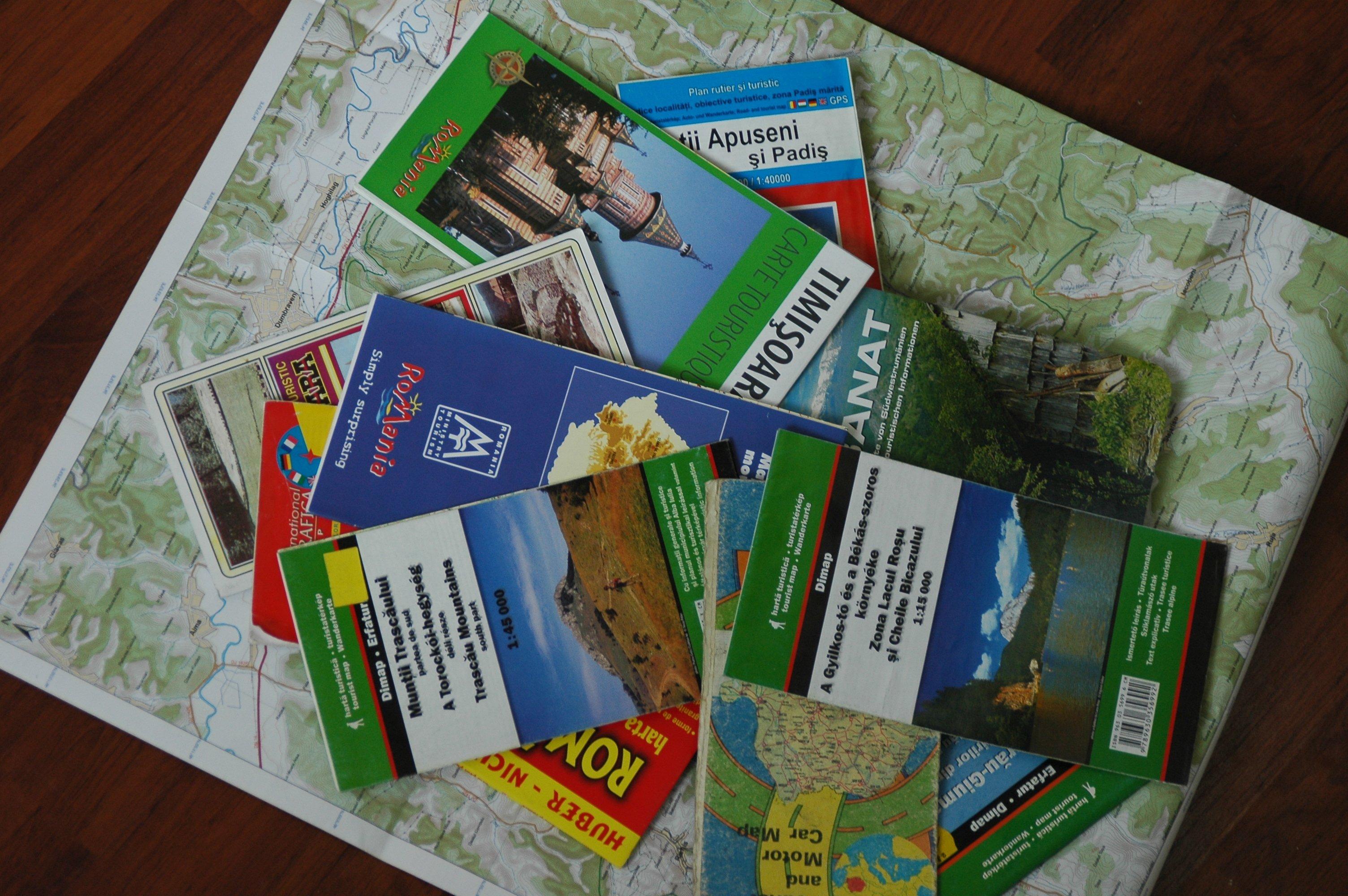 carte randonnée roumanie séjour